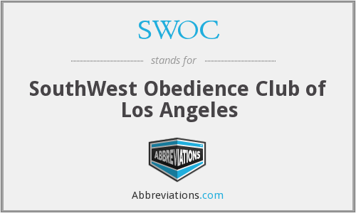 SWOC - SouthWest Obedience Club of Los Angeles