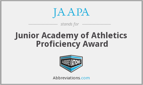 JAAPA - Junior Academy of Athletics Proficiency Award