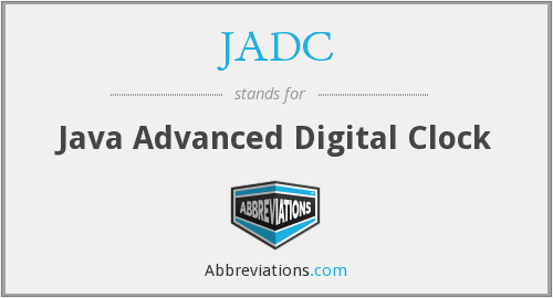 JADC - Java Advanced Digital Clock