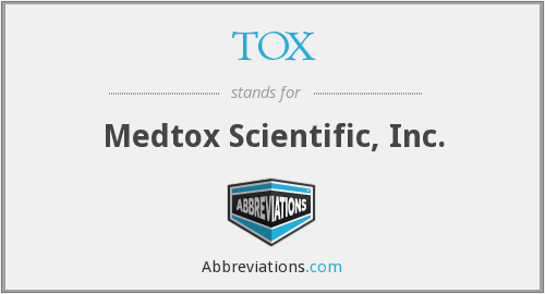 TOX - Medtox Scientific, Inc.