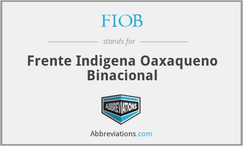 FIOB - Frente Indigena Oaxaqueno Binacional