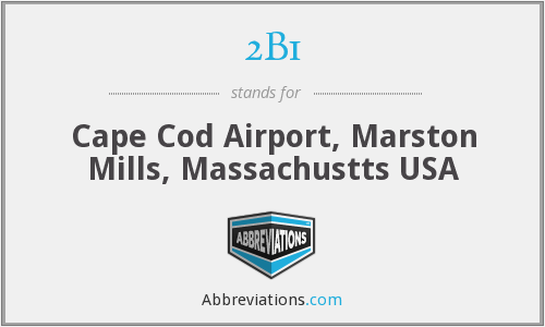 2B1 - Cape Cod Airport, Marston Mills, Massachustts USA
