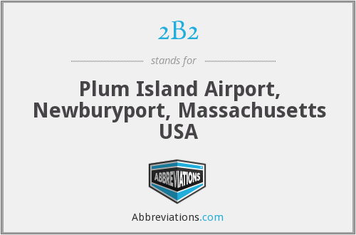 2B2 - Plum Island Airport, Newburyport, Massachusetts USA