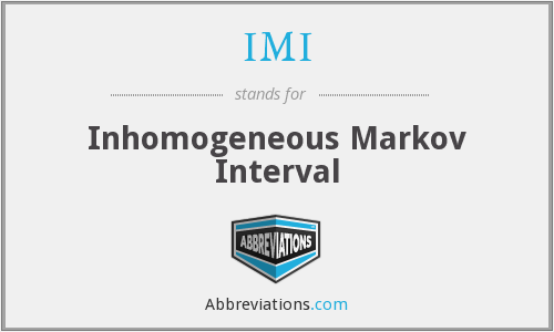 IMI - Inhomogeneous Markov Interval
