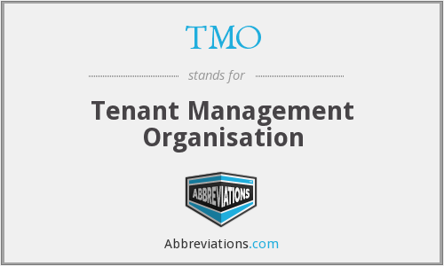TMO - Tenant Management Organisation