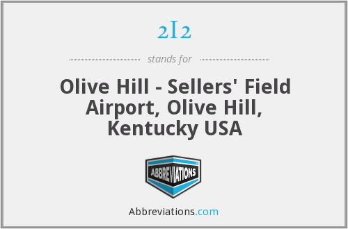 2I2 - Olive Hill - Sellers' Field Airport, Olive Hill, Kentucky USA