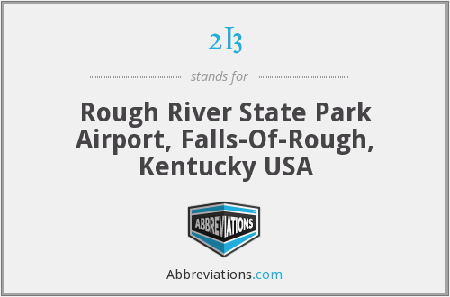 2I3 - Rough River State Park Airport, Falls-Of-Rough, Kentucky USA