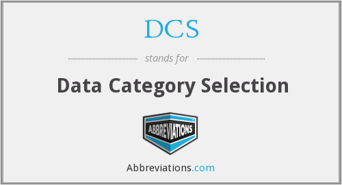 DCS - Data Category Selection