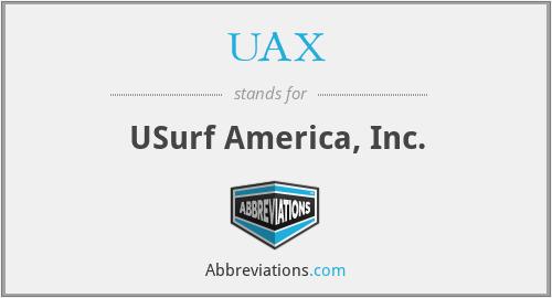 UAX - USurf America, Inc.