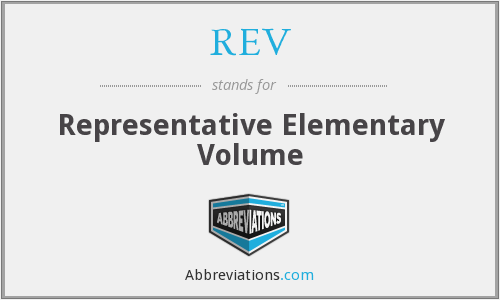 REV - Representative Elementary Volume