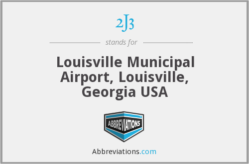 2J3 - Louisville Municipal Airport, Louisville, Georgia USA