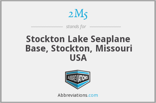 2M5 - Stockton Lake Seaplane Base, Stockton, Missouri USA