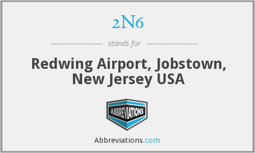 2N6 - Redwing Airport, Jobstown, New Jersey USA