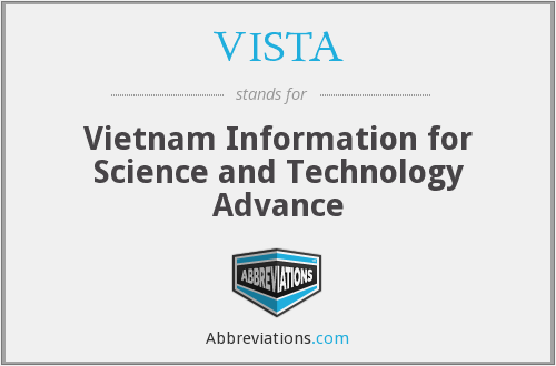 VISTA - Vietnam Information for Science and Technology Advance