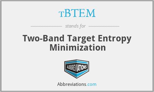 tBTEM - Two-Band Target Entropy Minimization