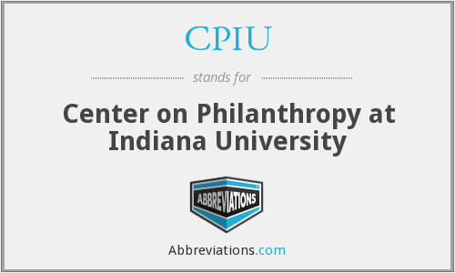 CPIU - Center on Philanthropy at Indiana University