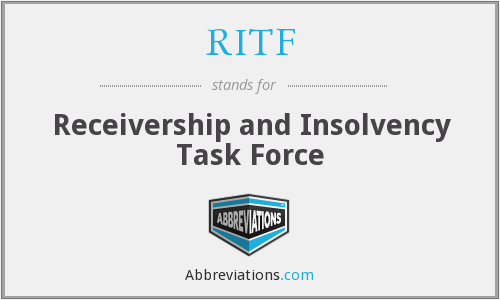 RITF - Receivership and Insolvency Task Force