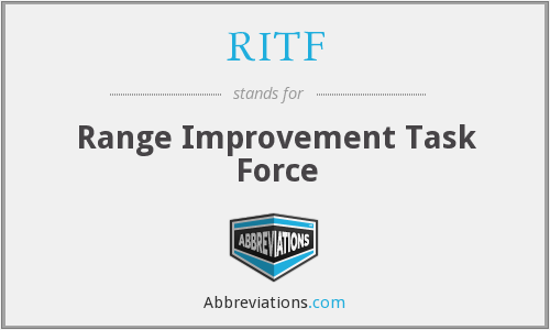 RITF - Range Improvement Task Force
