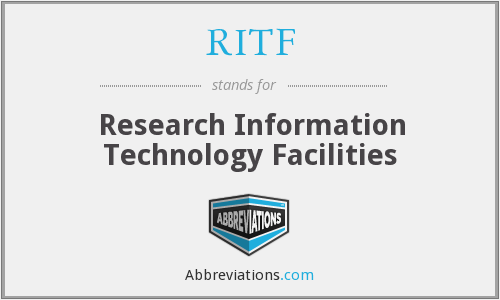 RITF - Research Information Technology Facilities