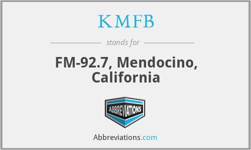 KMFB - FM-92.7, Mendocino, California