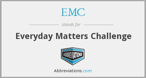 EMC - Everyday Matters Challenge