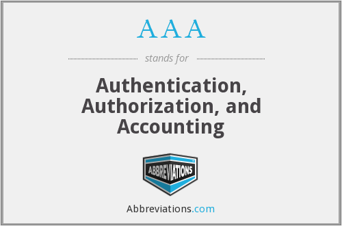 AAA - Authentication, Authorization, and Accounting