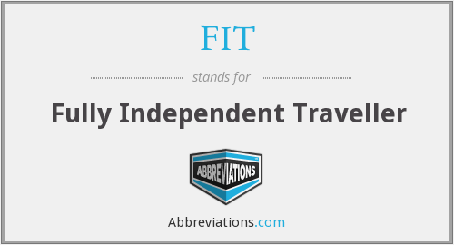 FIT - Fully Independent Traveller