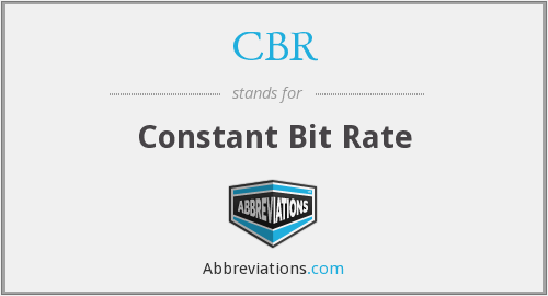 What does CBR stand for?