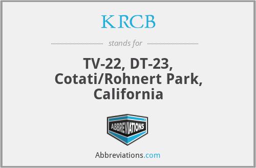 KRCB - TV-22, DT-23, Cotati/Rohnert Park, California