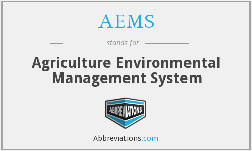 AEMS - Agriculture Environmental Management System