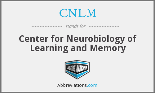 CNLM - Center for Neurobiology of Learning and Memory