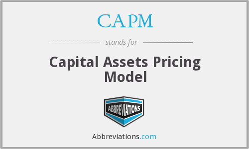 CAPM - Capital Assets Pricing Model