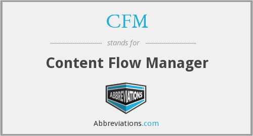 CFM - Content Flow Manager