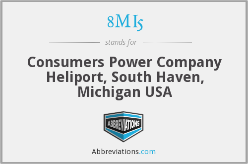 8MI5 - Consumers Power Company Heliport, South Haven, Michigan USA