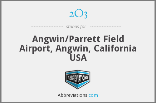 2O3 - Angwin/Parrett Field Airport, Angwin, California USA