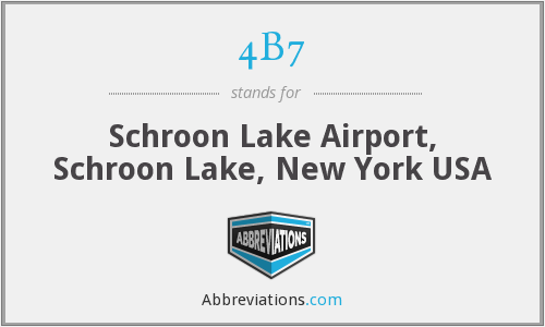 4B7 - Schroon Lake Airport, Schroon Lake, New York USA