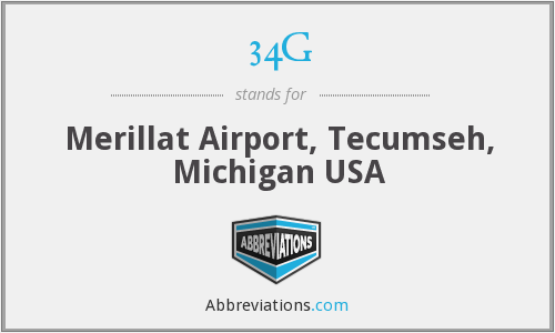 34G - Merillat Airport, Tecumseh, Michigan USA