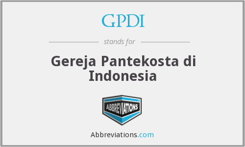 GPDI - Gereja Pantekosta di Indonesia