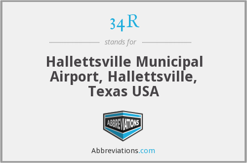 34R - Hallettsville Municipal Airport, Hallettsville, Texas USA