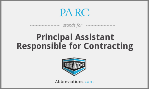 PARC - Principal Assistant Responsible for Contracting