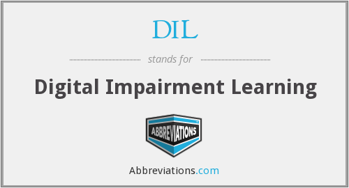 DIL - Digital Impairment Learning