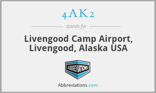 4AK2 - Livengood Camp Airport, Livengood, Alaska USA