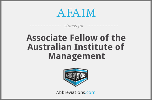 AFAIM - Associate Fellow of the Australian Institute of Management
