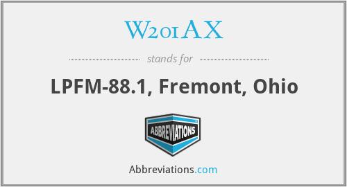 W201AX - LPFM-88.1, Fremont, Ohio