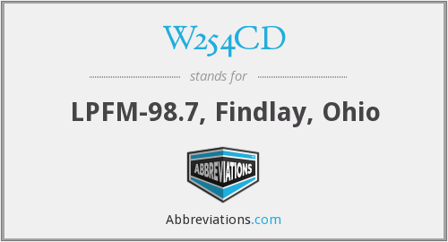 W254CD - LPFM-98.7, Findlay, Ohio