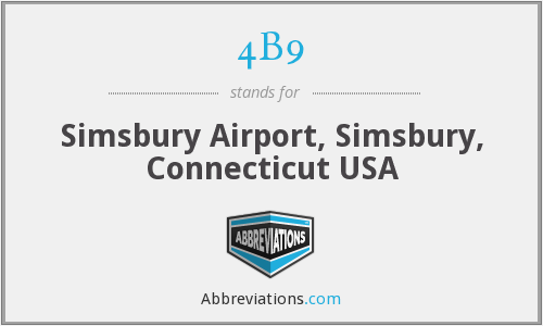 4B9 - Simsbury Airport, Simsbury, Connecticut USA