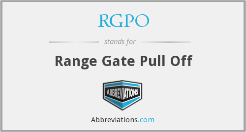 RGPO - Range Gate Pull Off