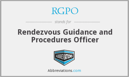 RGPO - Rendezvous Guidance and Procedures Officer