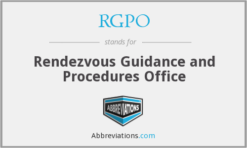 RGPO - Rendezvous Guidance and Procedures Office