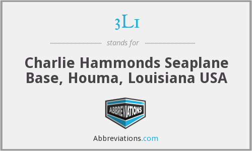 3L1 - Charlie Hammonds Seaplane Base, Houma, Louisiana USA